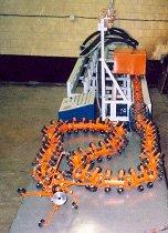 робот работ внутри труб
